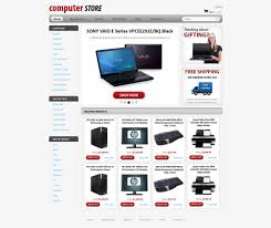 computers store web template free online store templates