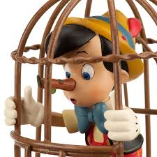 disney store pinocchio trapped in hanging bird cage
