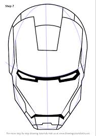 learn how to draw iron man u0027s helmet iron man step by step