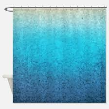 Aqua Blue Shower Curtains Aqua Shower Curtains Cafepress