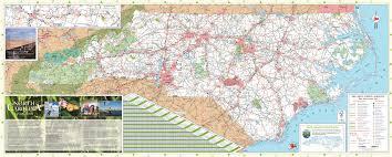 carolina state road map map