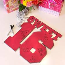 sweet 16 guest book sweet 16 party sign in customizable guest book by slippin southern
