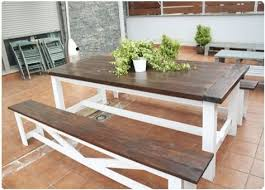 farmhouse style picnic table picnic tables outdoor tables and