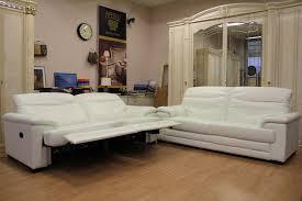 sofa elektrisch verstellbar luxus 2x sofas 3 sitzer sessel weiß leder htl relax