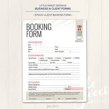 photography studio client booking form photoshop template