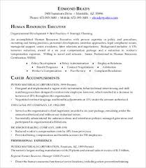 Sample Resume Hr by Sample Executive Resume 9 Free Sample Example Format Free