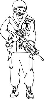 Coloriage militaire à imprimer