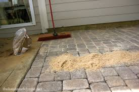 How To Install Pavers For A Patio Backyard Bliss Installing Patio Pavers And A Pit Diy Patio