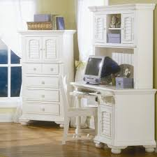 Computer Armoire Corner by Furniture White Shabby Chic Chair With White Computer Armoire And