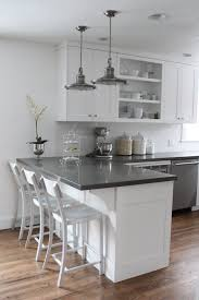 grey kitchen countertops with white cabinets kitchen remodel the big reveal two peas their pod