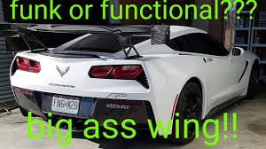 corvette performance upgrades do they work c7 corvette wing front lip and rockers apr