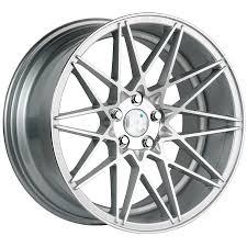 subaru rims klutch sl5 silver w chrome lip wheels 18