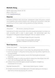 resume objective sle part time resume exles exles of resumes