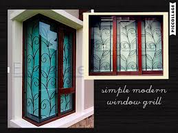 nice window grill wrought iron pinterest window grill love the simple n modern design of this window grill