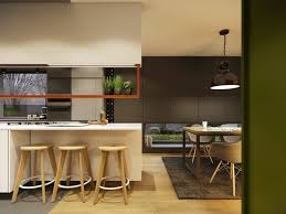 contemporary home design ideas arranged with a gray and wooden