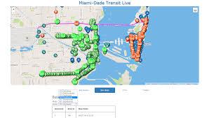 Miami Dade Transit Map by Github Qtrandev Leaflettransit Leafletjs App Showing Miami