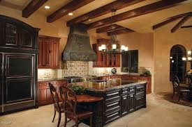 Mediterranean Kitchen - mediterranean kitchen with travertine tile floor u0026 stone tile in