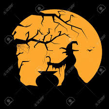9 123 witch silhouette stock illustrations cliparts and royalty