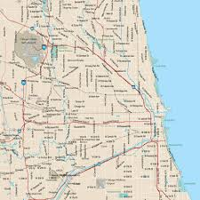 Map Of Chicago Land Area by Chicago Vector Map U2013 Map Resources