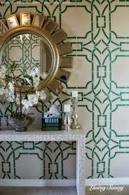Trellis Wall Stencil Ideas For Stenciling A Welcoming Foyer Paint Pattern
