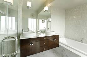 white mosaic tile bathroom midcentury with my houzz