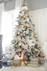 20 best flocked christmas trees images on pinterest merry