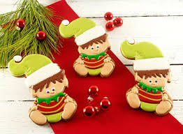 baby elf cookies for christmas the bearfoot baker