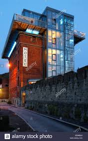 hotel altes knasthaus old prison house vronfeste modern glass