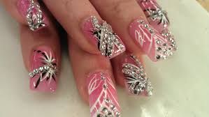 beautiful pretty diamond nail designs youtube