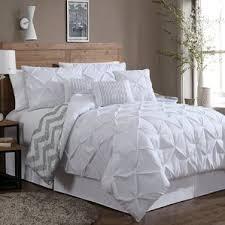 White Ruffled Comforter Modern White Bedding Sets Allmodern