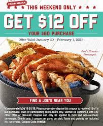 coupons for joe s crab shack denver january 2015