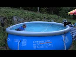 Deep Backyard Pool by Lap Swim In A 12 Ft Diameter Pool 3 Feet Deep Youtube