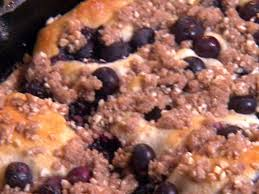 easy blueberry skillet cake recipe paula deen food network