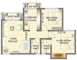2bhk floor plans residency park hdil