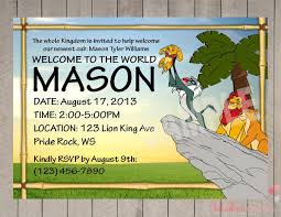 lion king baby shower invitation templates cloveranddot com
