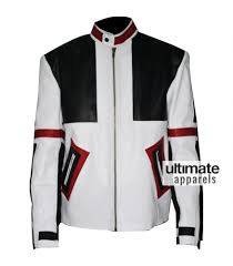 white motorbike jacket designers chaser box white u0026 black motorbike leather jacket