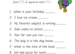1st grade punctuation worksheets u0026 free printables education com
