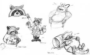 rocket raccoon sketches by aldi fur affinity dot net