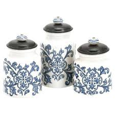 white kitchen canister sets ceramic blue kitchen canister sets semenaxscience us