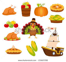 set colorful icons thanksgiving day stock vector 231627295