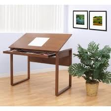Wood Drafting Table Studio Designs Ponderosa Solid Wood Drafting Table With Drawer