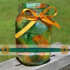 kids craft make stained glass mason jars bowdabra blog