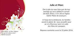 invitation mariage texte carte faire part mariage fleuri