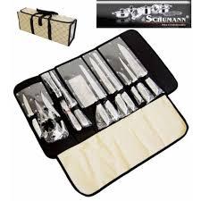 coffret couteaux de cuisine design pochette couteaux 12 pieces inox pro schumann prix 96