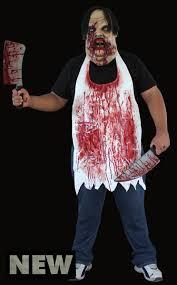 Butcher Halloween Costume Mask Butcher Apron
