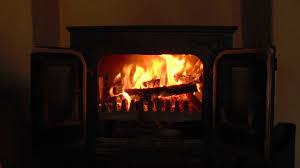 beautiful old wood burning stove with crackling fire sounds hd
