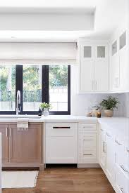 brown kitchen cabinets to white white and brown mixed kitchen cabinets cottage kitchen