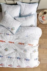 Anthropologie Duvet Covers 326 New Anthropologie Home Bedding Seadrifter Fish Nautical King