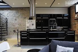 cuisine laqué noir carrelage cuisine noir cuisine grise anthracite 2 carrelage sol