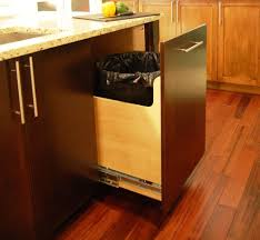 64 gallon trash can contemporary kitchen and bar pull birch wood